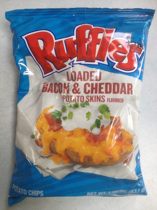 ... : Ruffles Loaded Bacon & Cheddar Potato Skins Flavored Potato Chips